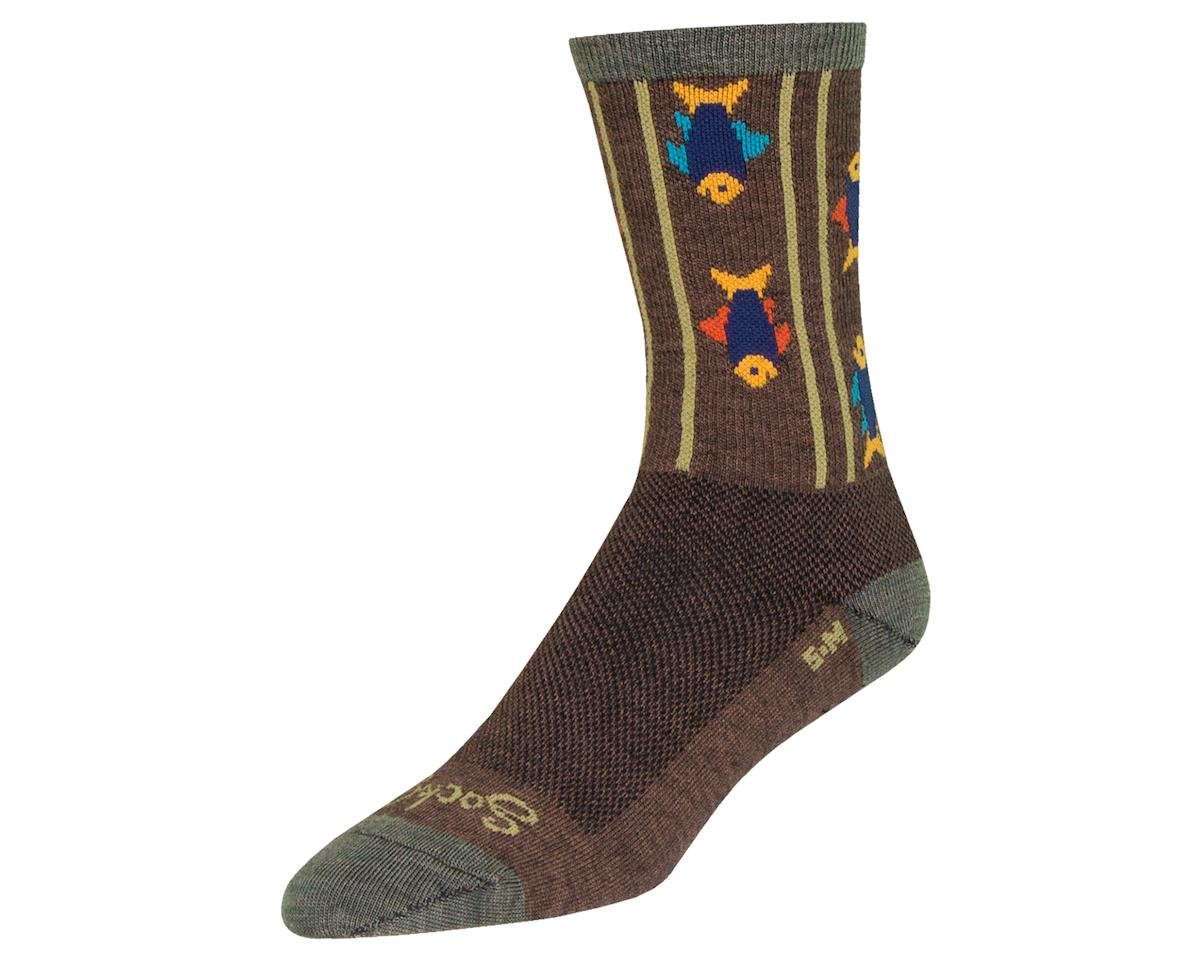 "Sockguy 6"" Wool Socks (Upstream) (L/XL)"