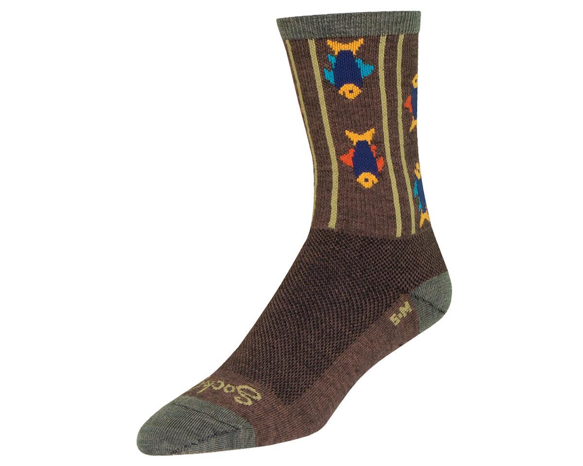 """Sockguy 6"""" Wool Socks (Upstream) (L/XL)"""