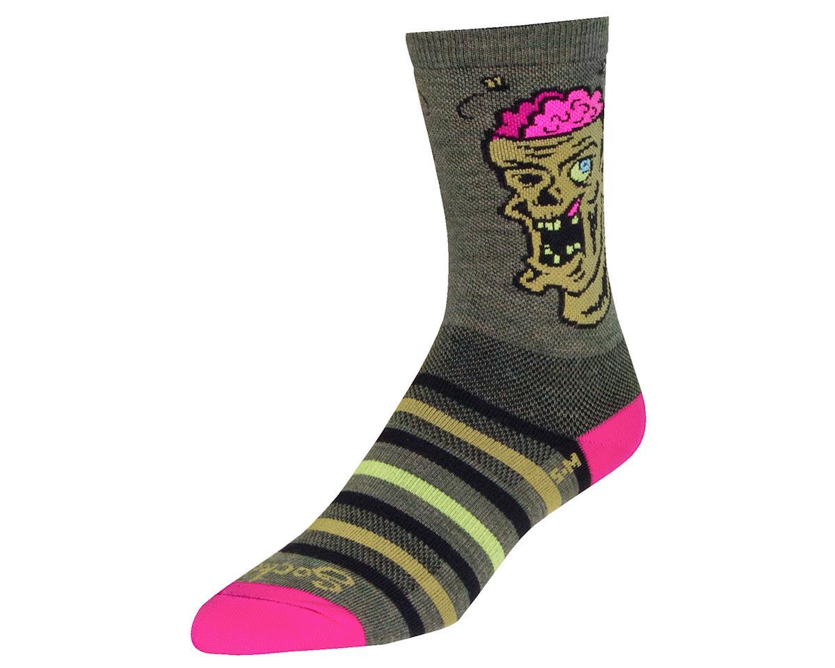 """Sockguy 6"""" Wool Socks (Zom B.) (L/XL)"""