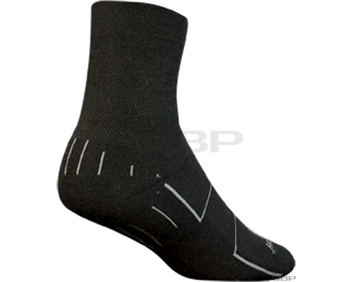 Sockguy Wool Wooligan Sock (Black) (L/XL)