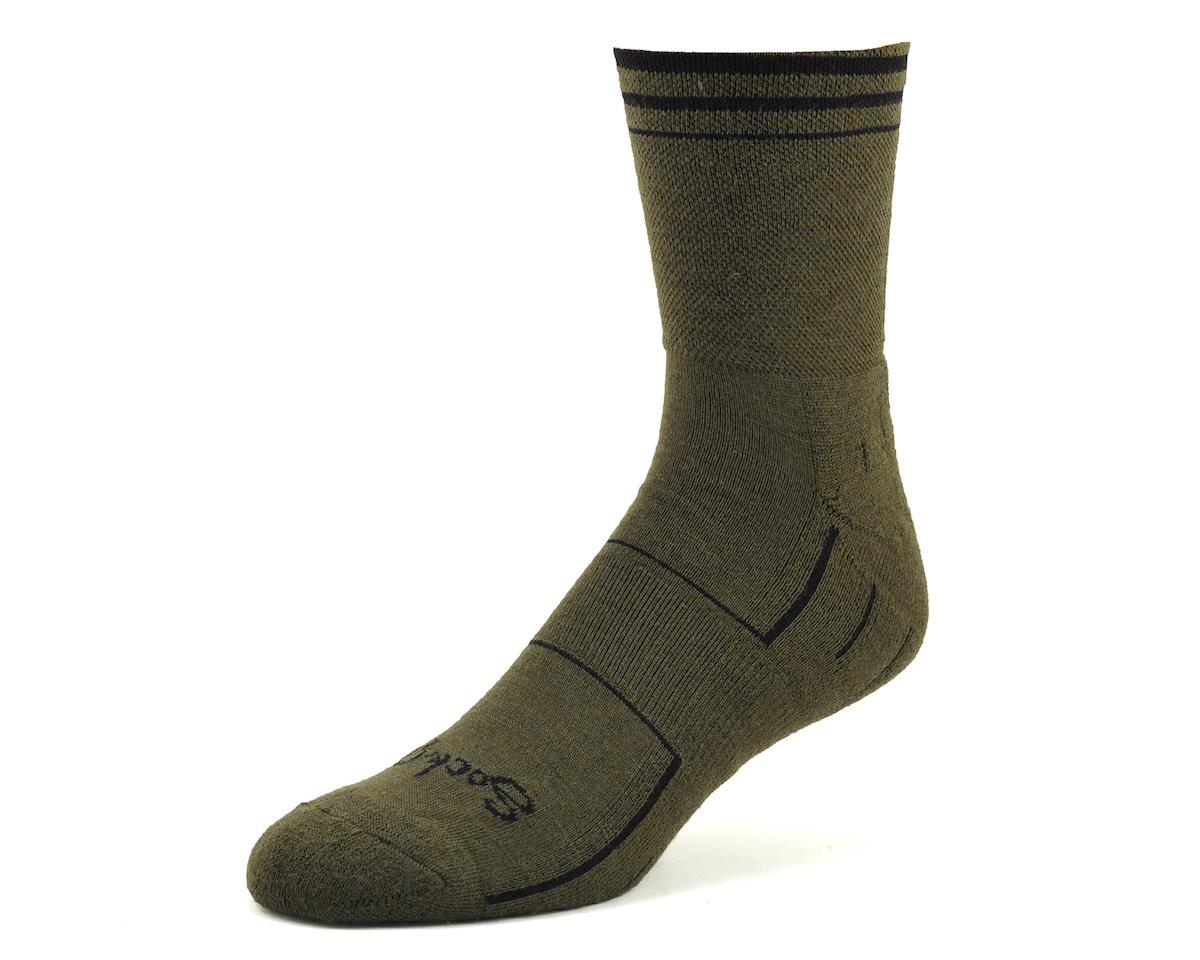 """Sockguy 4"""" Wool Socks (Olive) (L/XL)"""