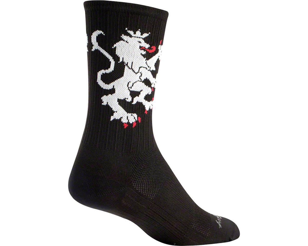 Sockguy SGX Lion Of Flanders White Socks (Black) (L/XL)