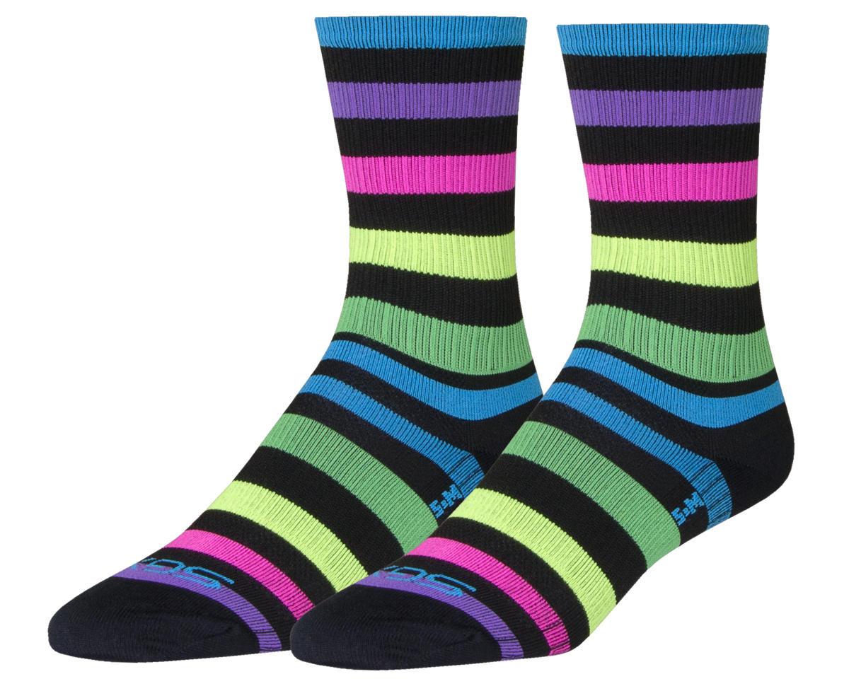 Sockguy Night Bright SGX6 Socks (Black/Mulit Color) (L)
