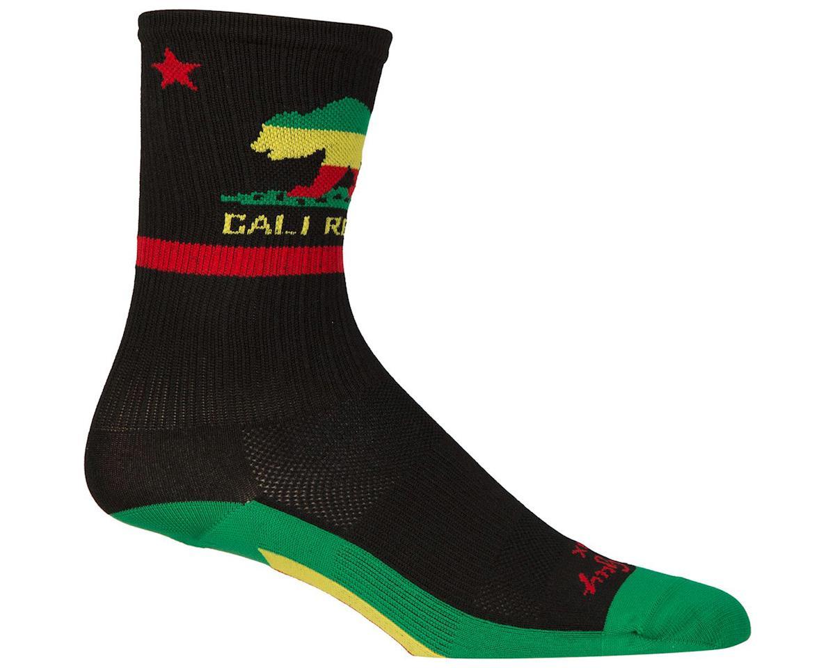 Sockguy SGX Rasta Cali Socks (Black) (S/M)