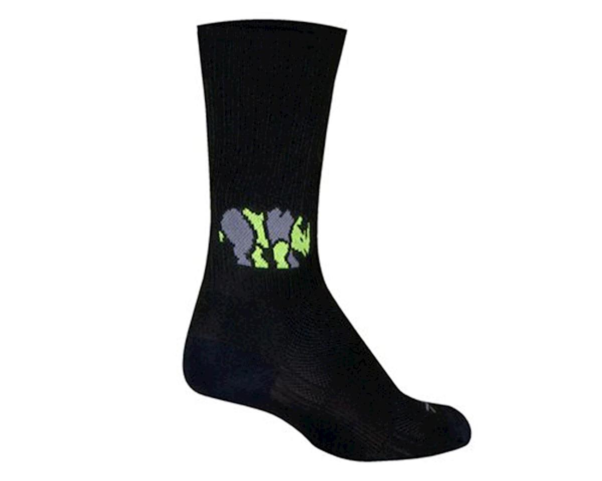 Sockguy Rhino SGX6 Socks (Black) (M)