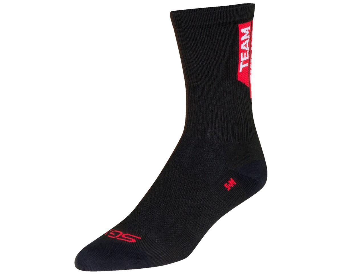 """Sockguy 6"""" SGX Socks (Team Skinny Legs) (Red) (L/XL)"""