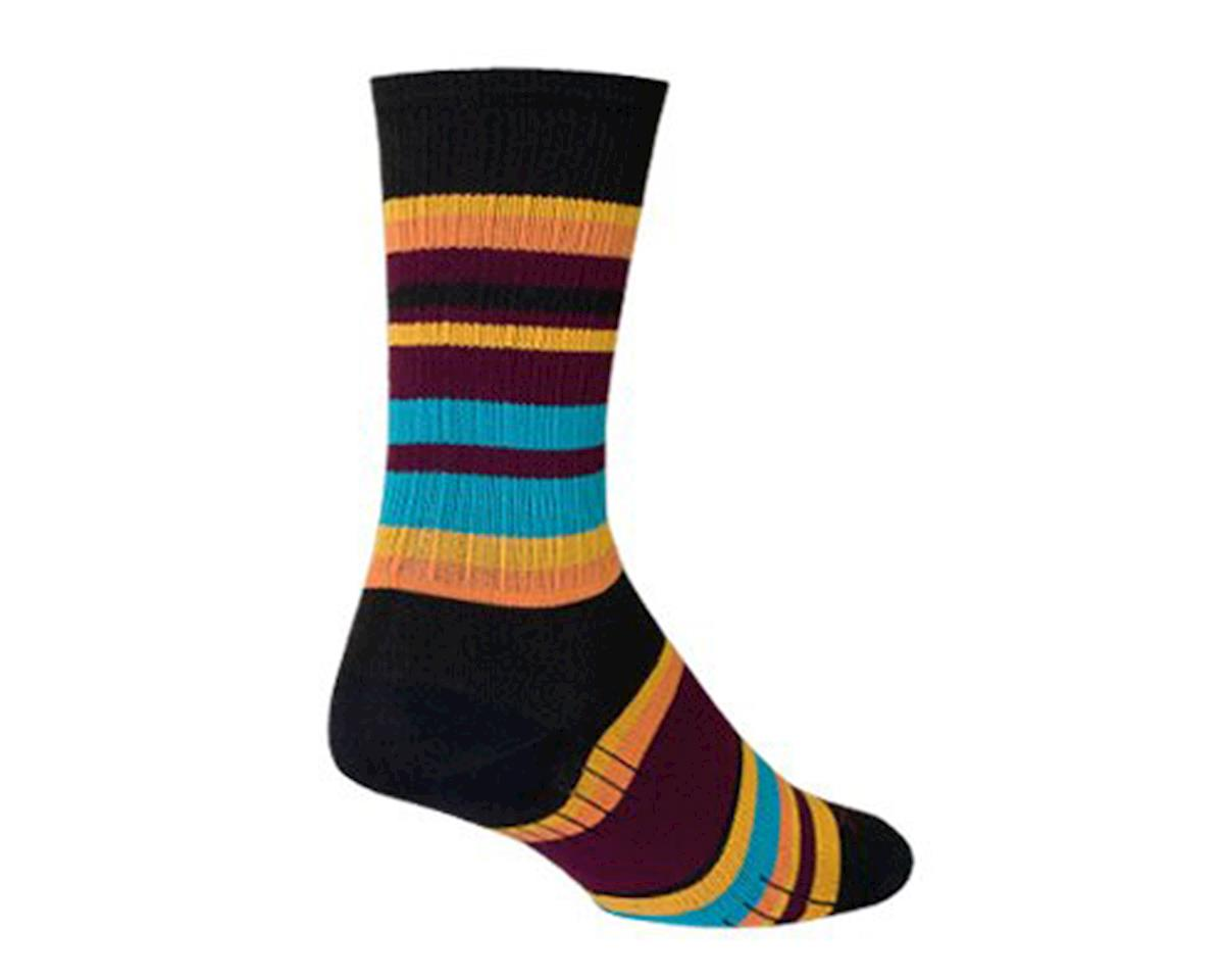 Sockguy Twilight SGX6 Socks (Black/Orange/Blue) (L)