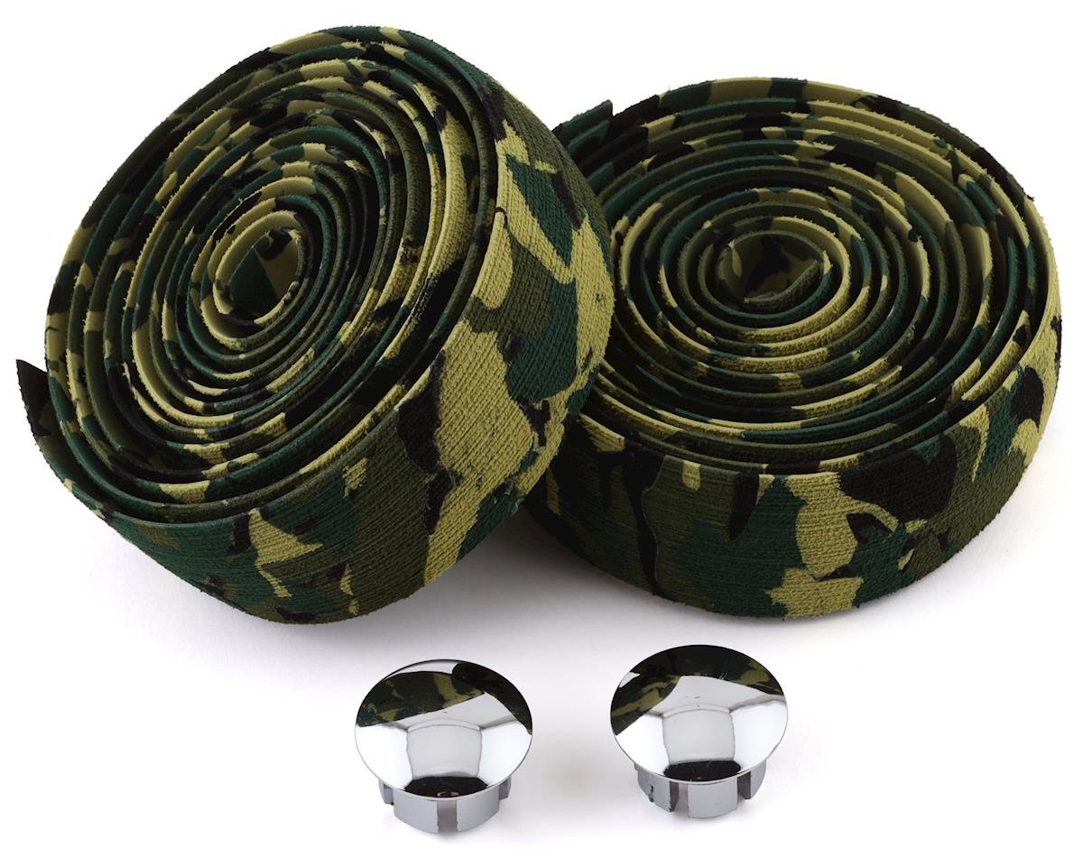 Soma Thick and Zesty Striated Bar Tape (Green/Camo)