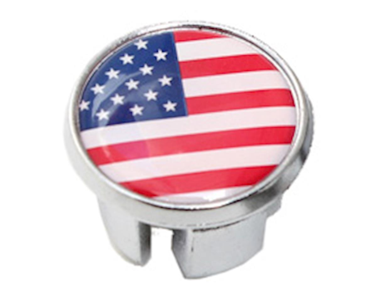 International Flag Bar-End Plugs (USA)