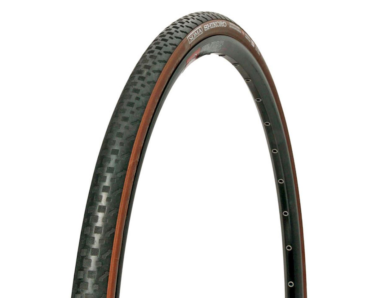 Soma Shikoro Clincher Tire (Black/Brown) (700x33c)