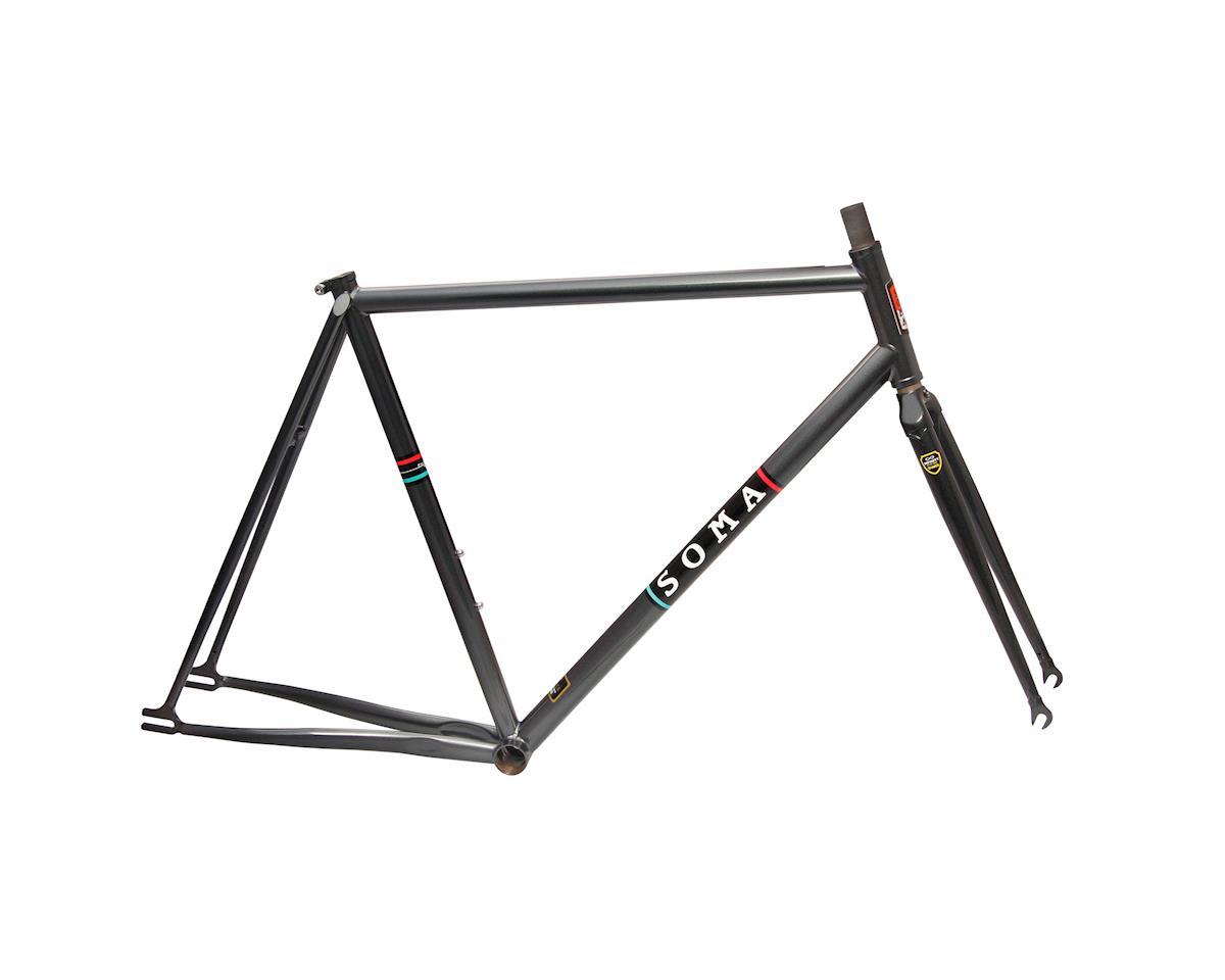Soma Rush track frame/fork, 55cm - graphite