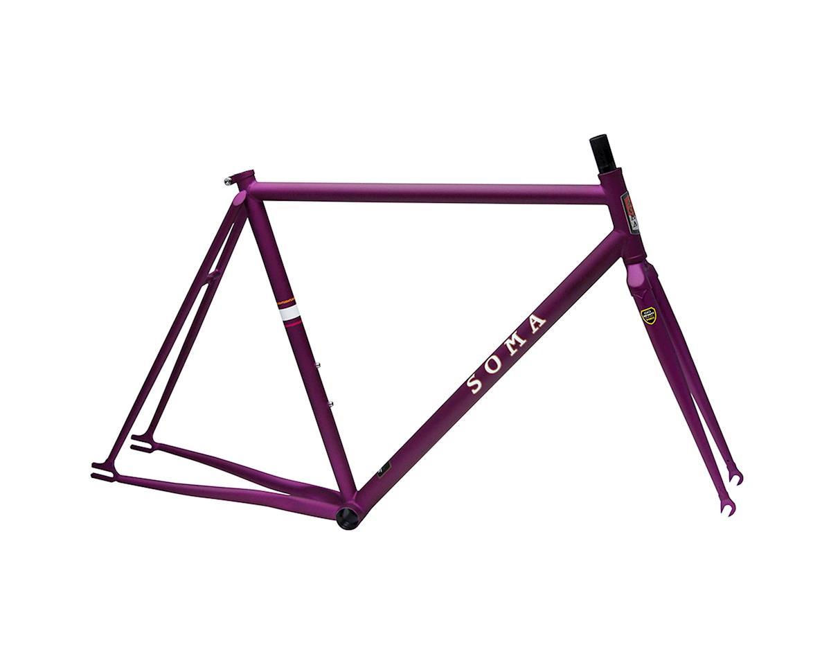 Soma Rush Track Frame/Fork (Matte Purple)
