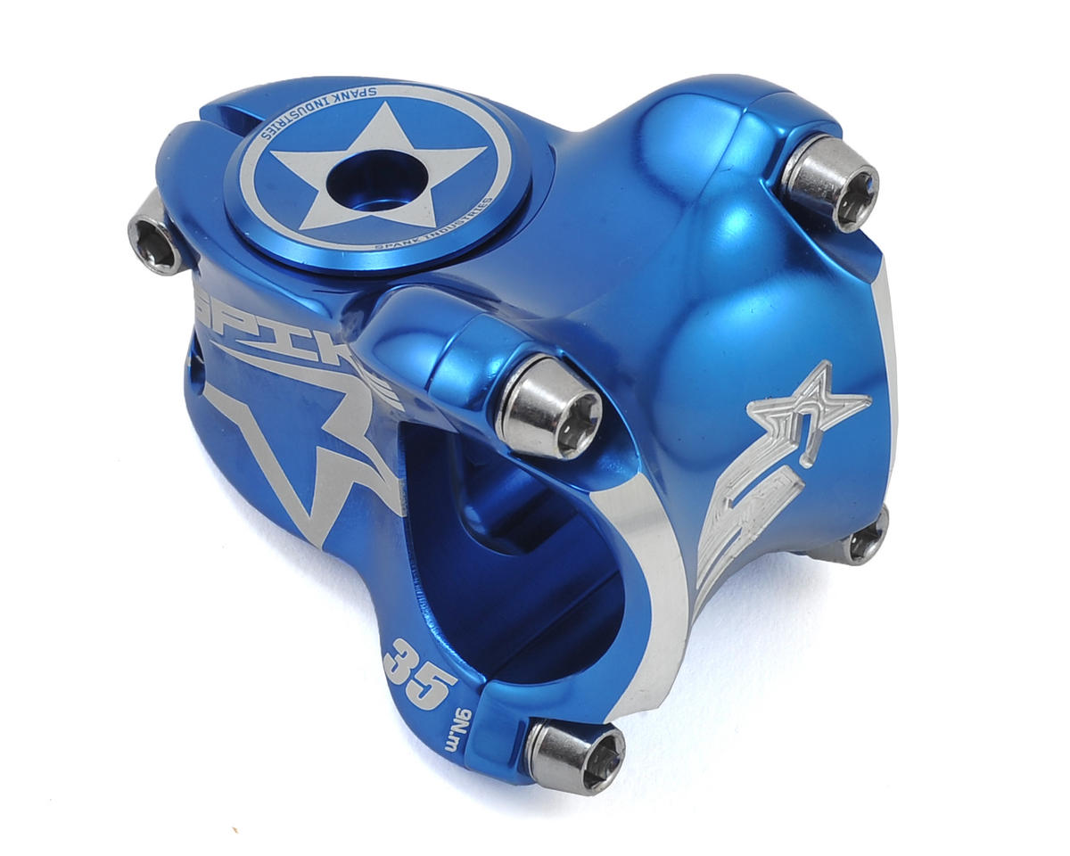 Spank Spike Race Stem (Blue) (35mm)