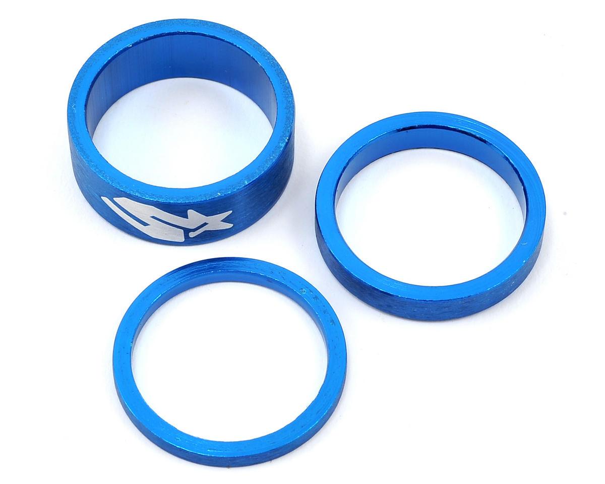 Spank 1 1/8 Aluminum HeadSet Spacer Kit (Blue) (3, 6, 12mm)