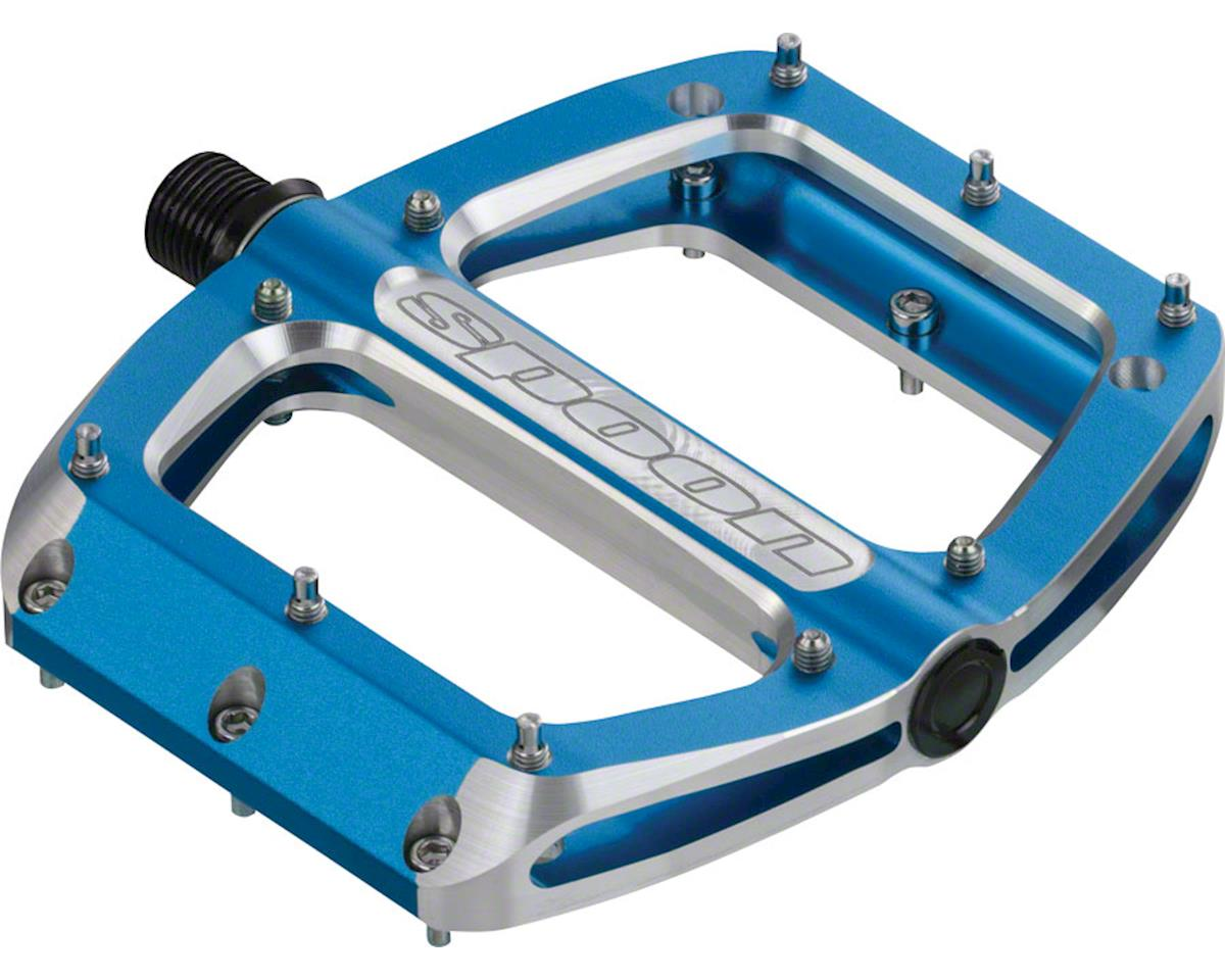 Spank Spoon Medium (100mm) Pedals, Blue