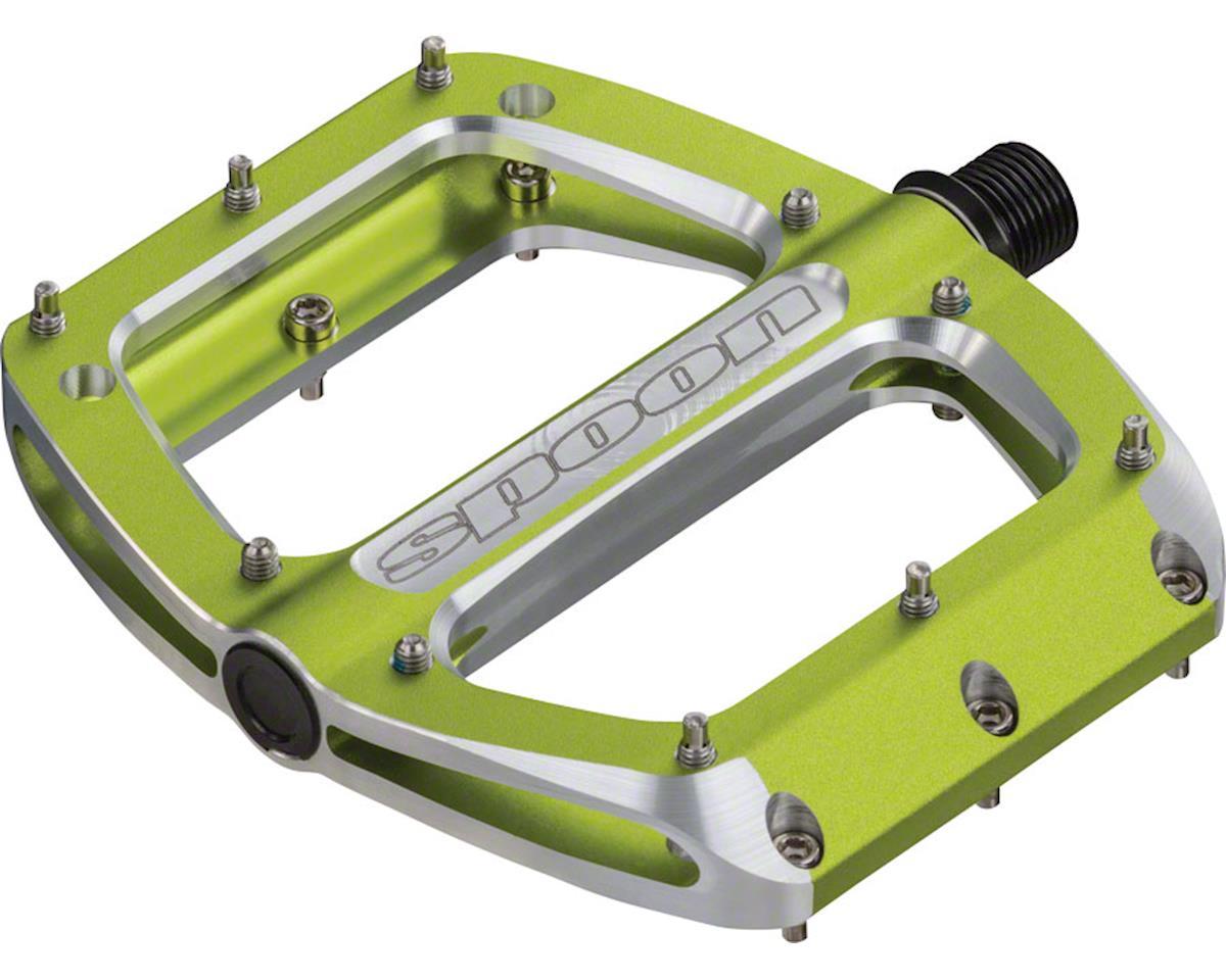 Spank Spoon Medium (100mm) Pedals, Green