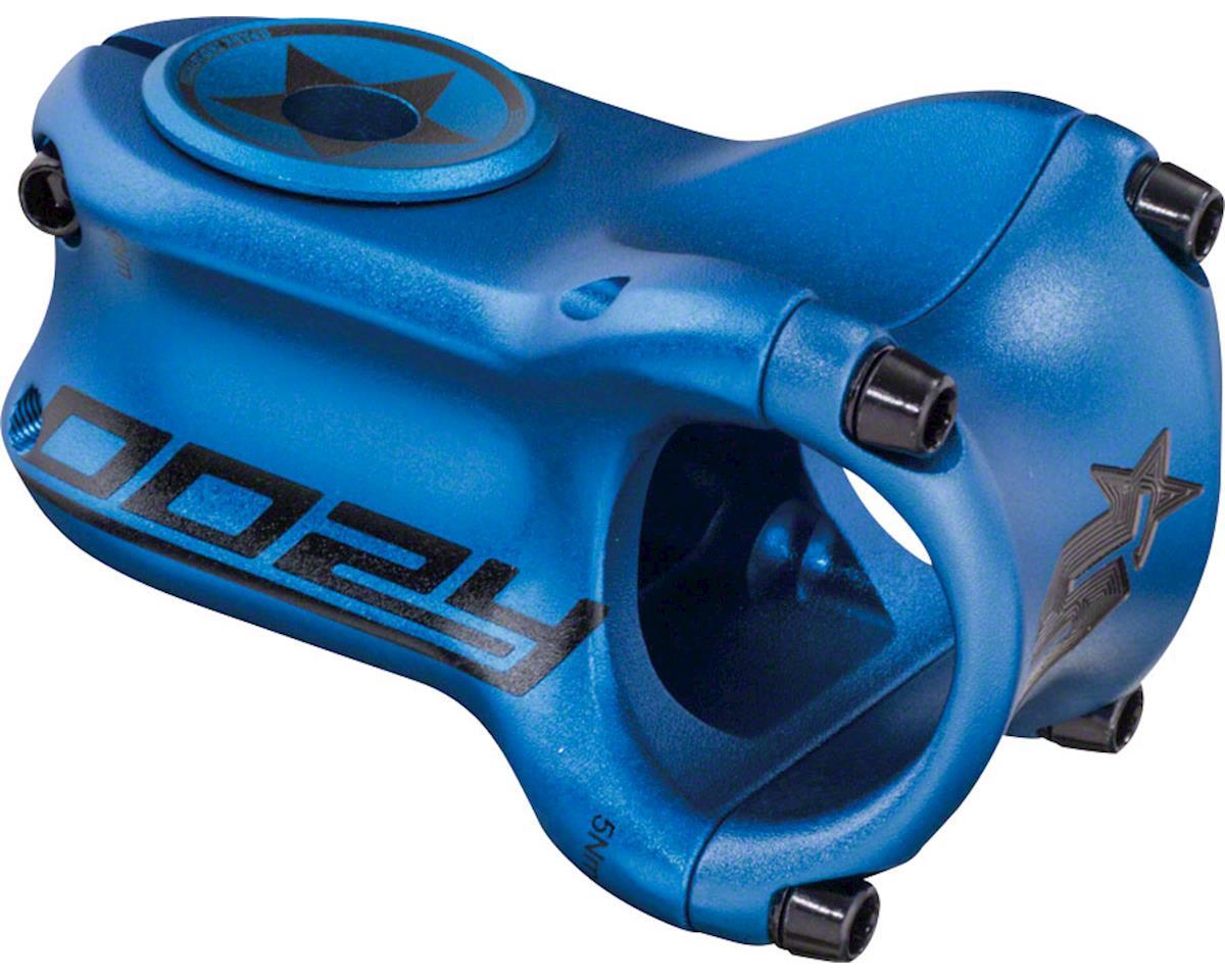 "Spank Oozy Trail Stem - 50mm, 31.8 Clamp, +/-0, 1 1/8"", Aluminum, Matte Blue"