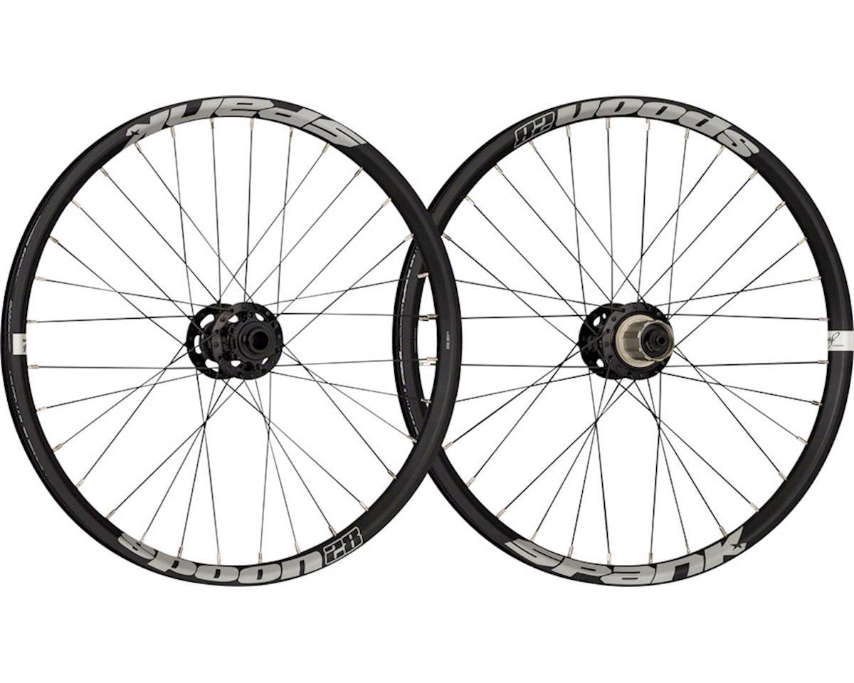 """Spank Spoon 28-20 Wheelset: 20"""" 15 x 100mm Front 12 x 142mm Rear Black"""