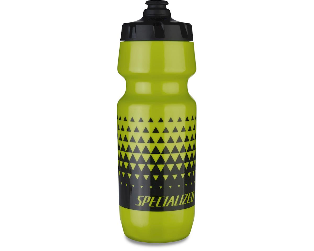 Specialized Big Mouth 24oz Water Bottle (Hyper Green/Black Triangle Fade) (24 OZ)