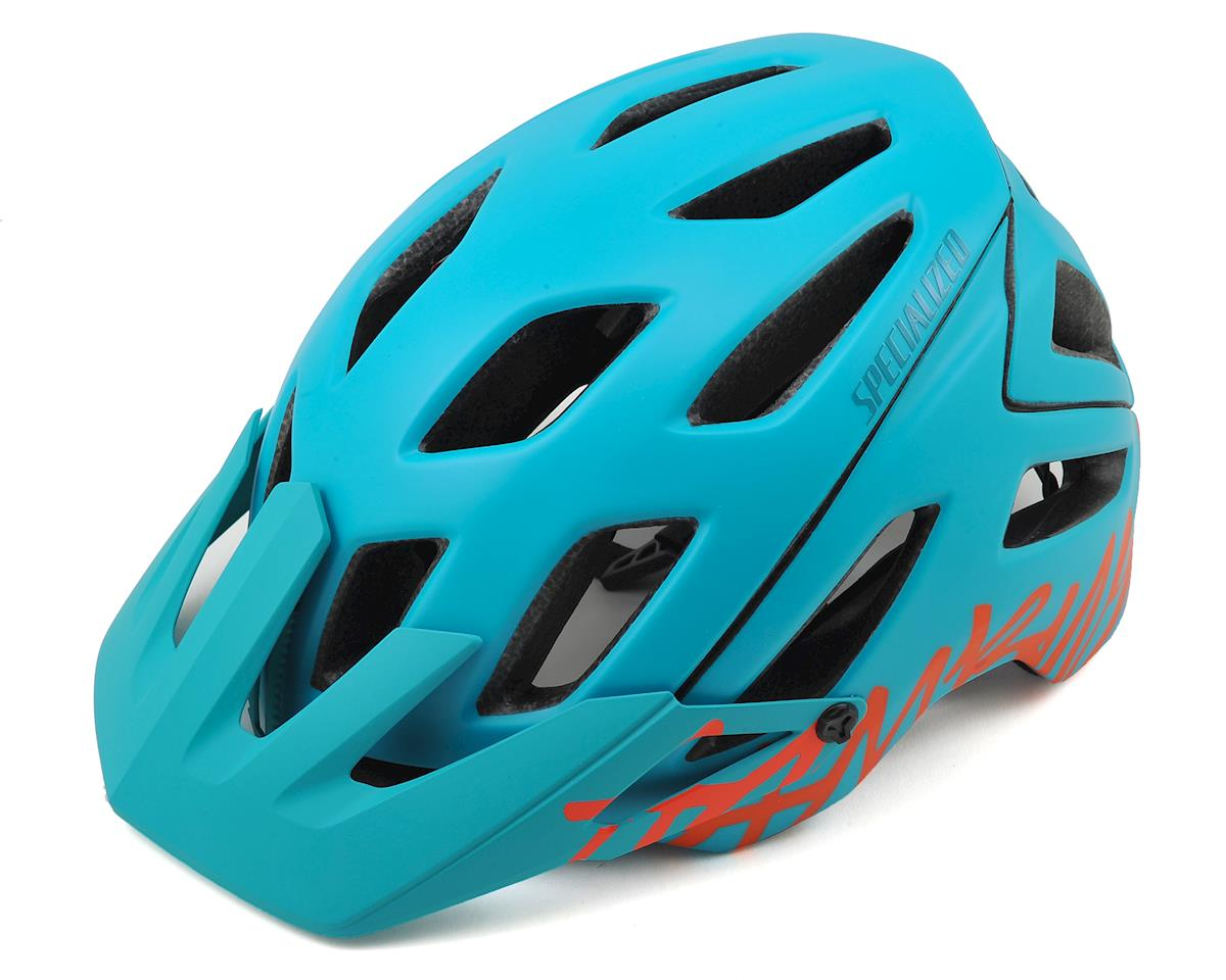 Specialized Ambush MTB Helmet (Turquoise/Neon Coral Logo)