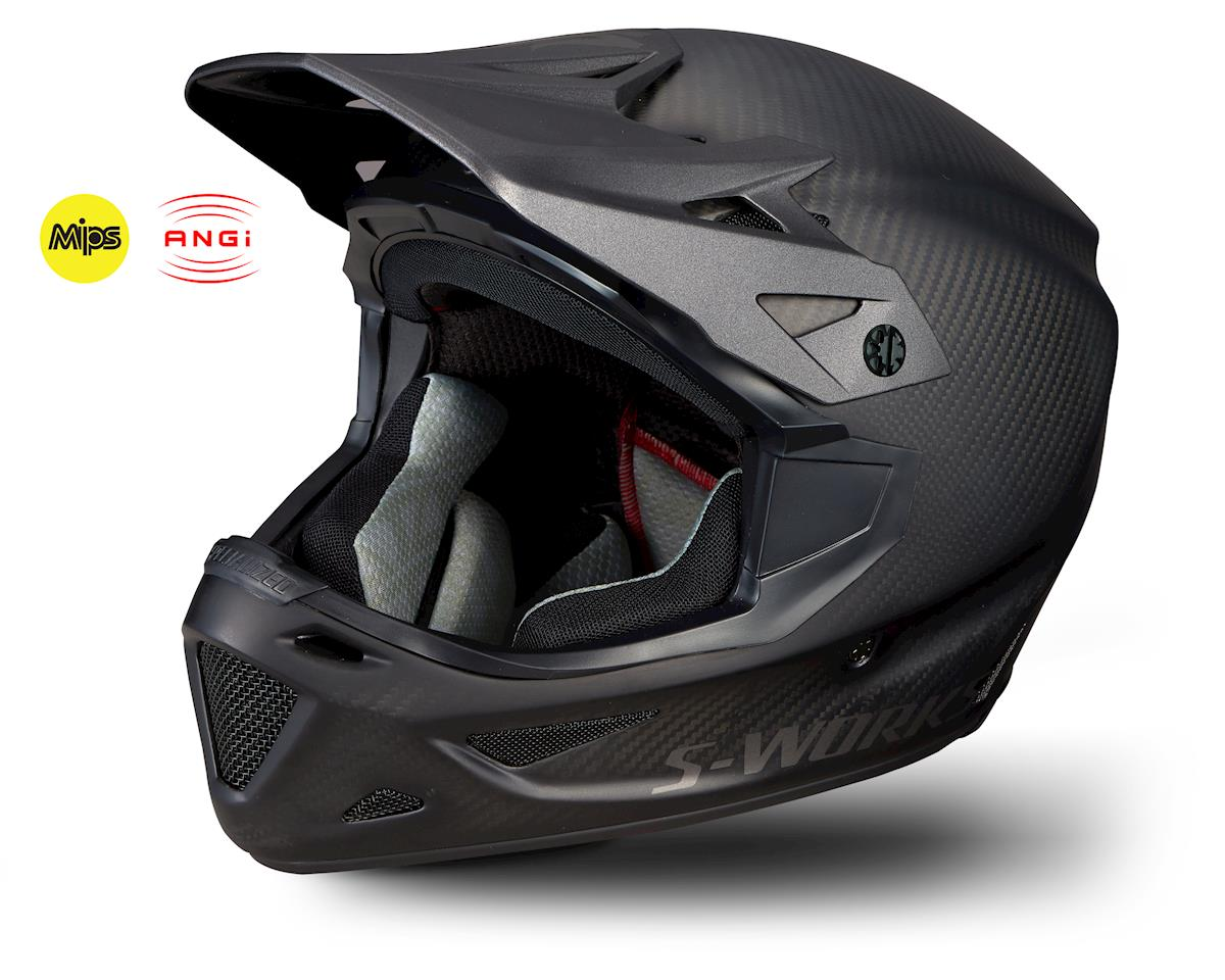Specialized S-Works Dissident Full-Face Helmet w/ ANGi (Matte Raw Carbon)