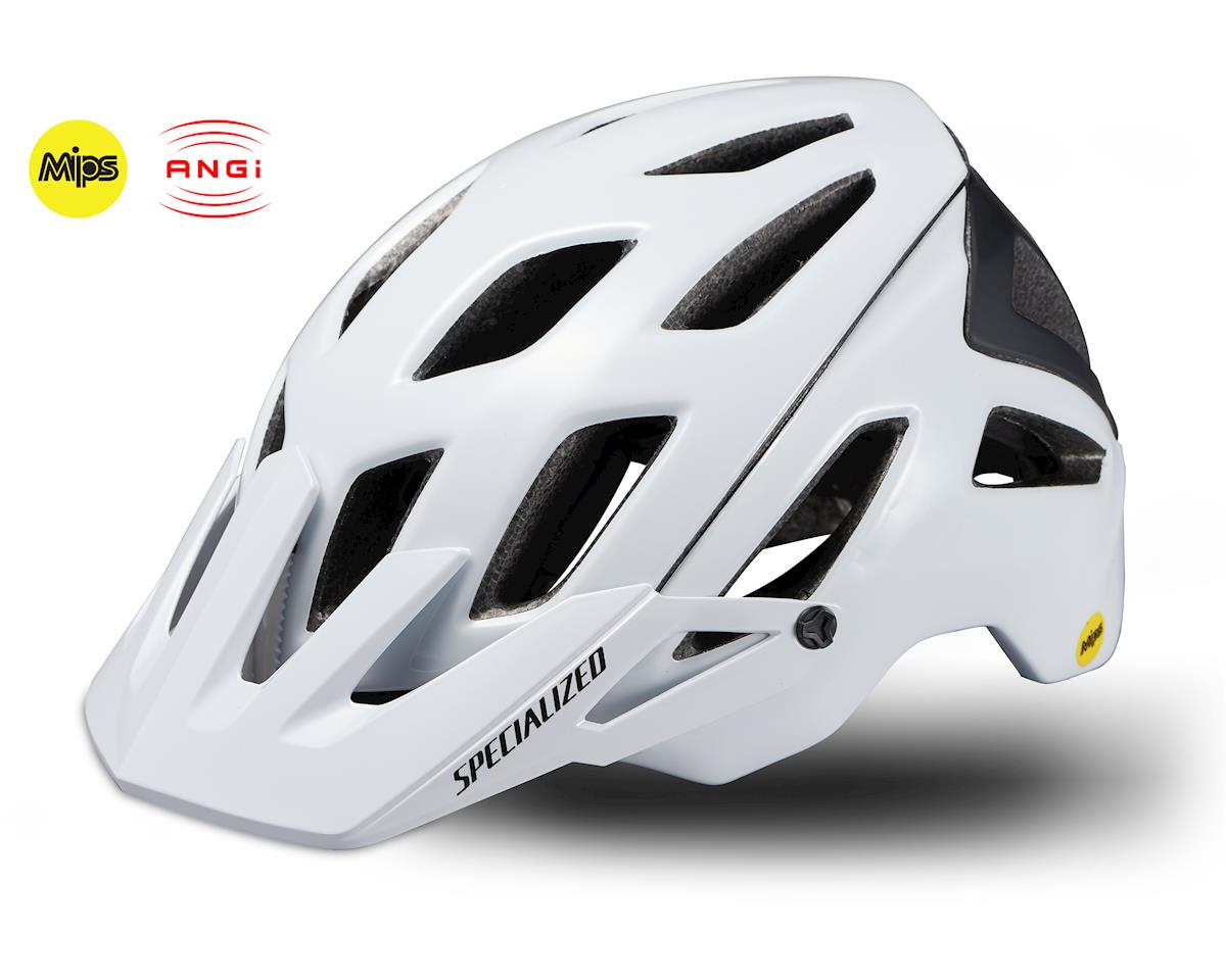 Specialized Ambush 2019 Mountain Bike Helmet w/MIPS & ANGi (Gloss White)