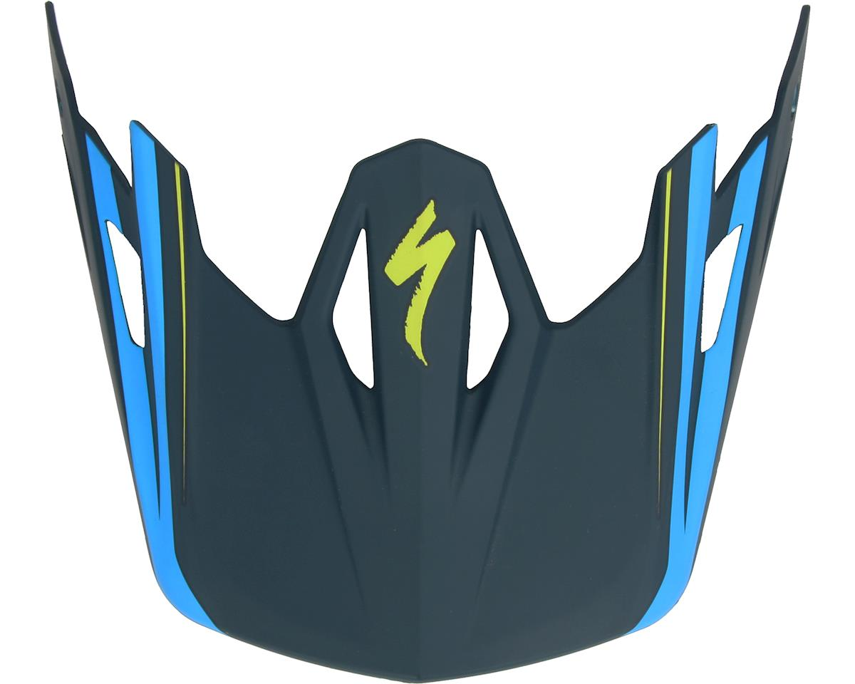 Specialized Dissident Comp Helmet Visor (Navy/Neon Blue Signal)