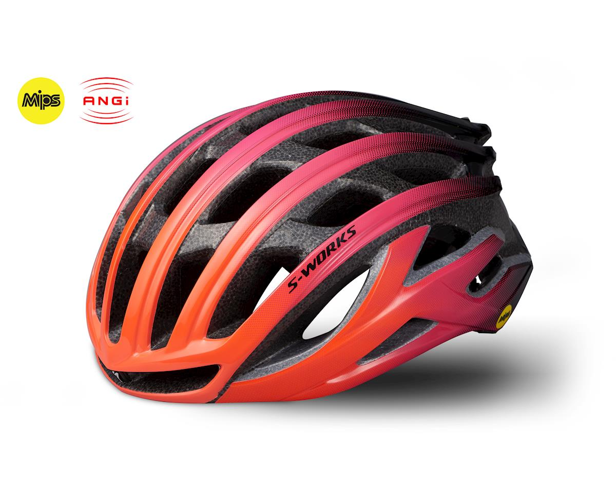 Specialized S-Works Prevail II Road Helmet w/ANGi (Acid Lava/Acid Purple) (S)