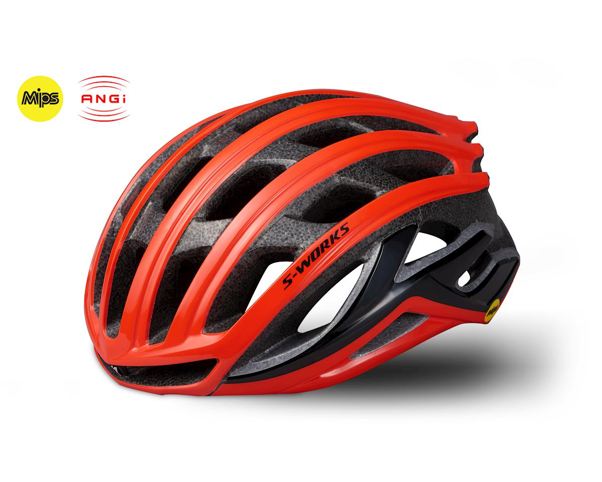 Specialized S-Works Prevail II Road Helmet w/ANGi (Rocket Red) (S)