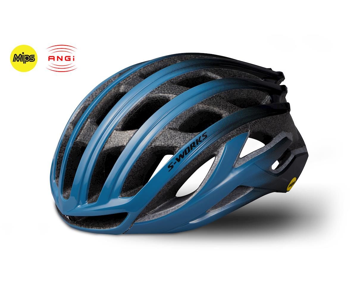 Specialized S-Works Prevail II Road Helmet w/ANGi (Storm Grey/Black) (S)