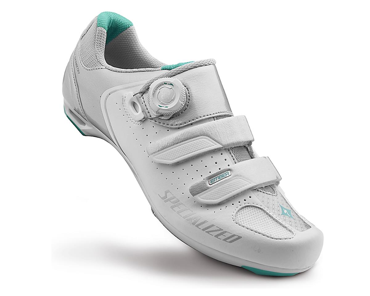 Specialized Ember Women's Road Shoe (White/Emerald Green) (41)