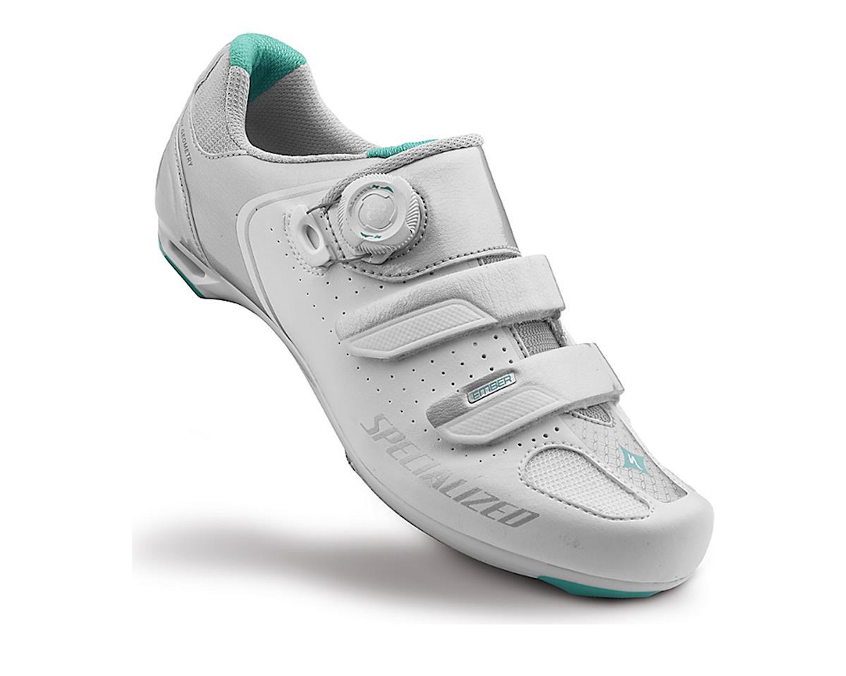 Specialized Ember Women's Road Shoe (White/Emerald Green) (42)