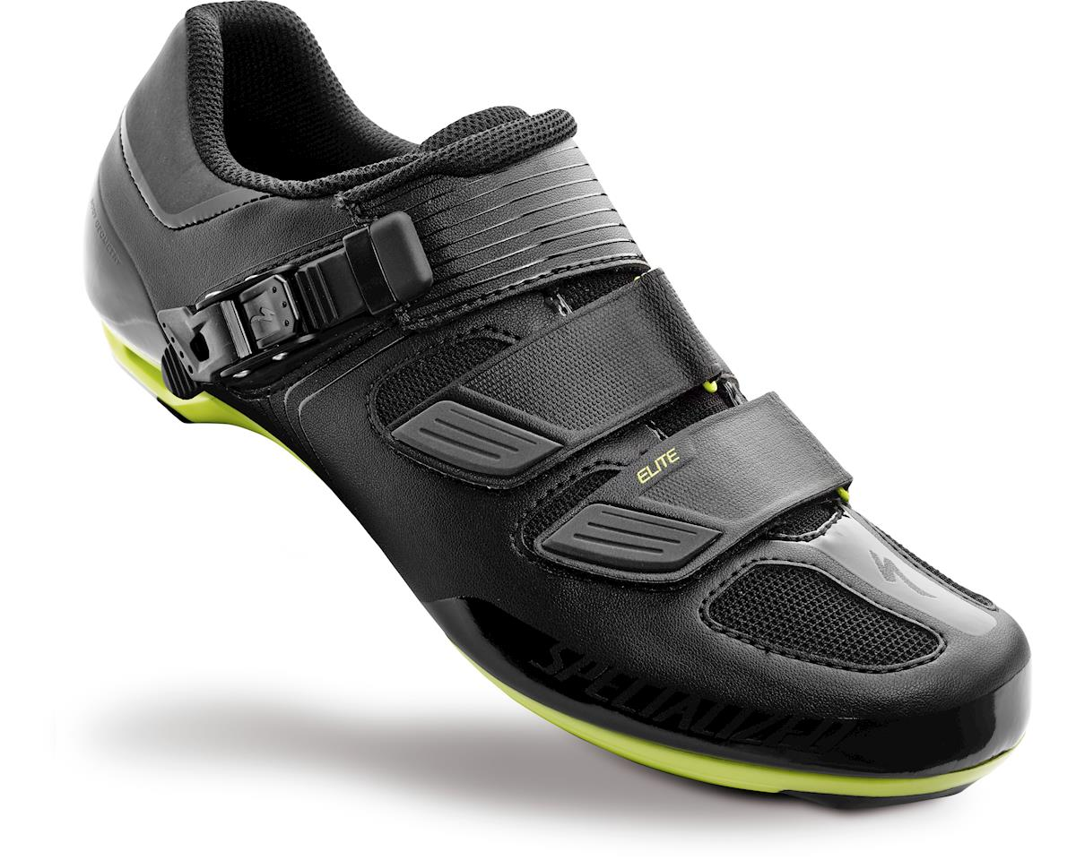 Specialized Elite Road Shoes (Black/Hyper Green Reflective) (36)