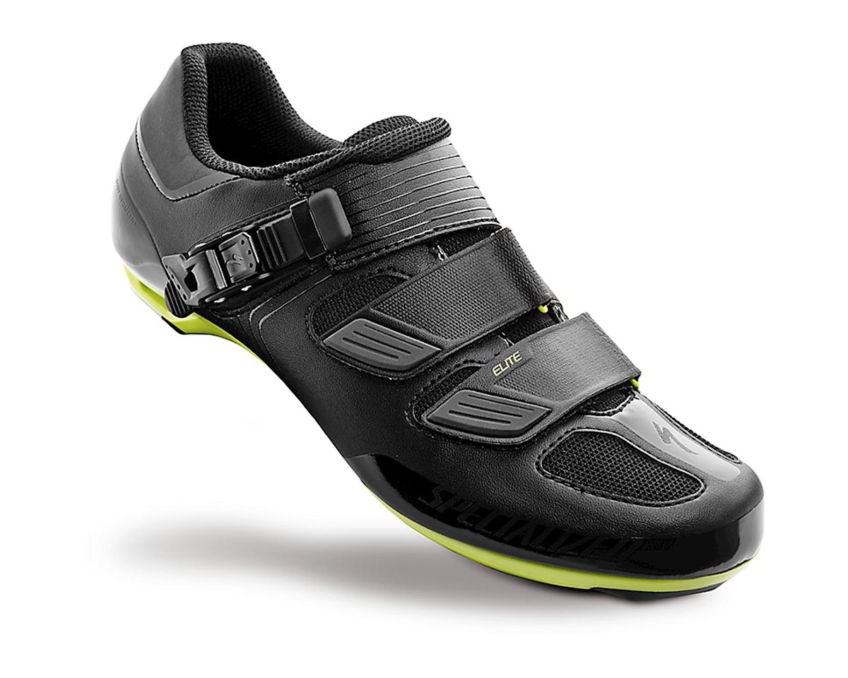 Specialized 2016 Elite Road Shoes (Black/Hyper Green Reflective) (42.5)