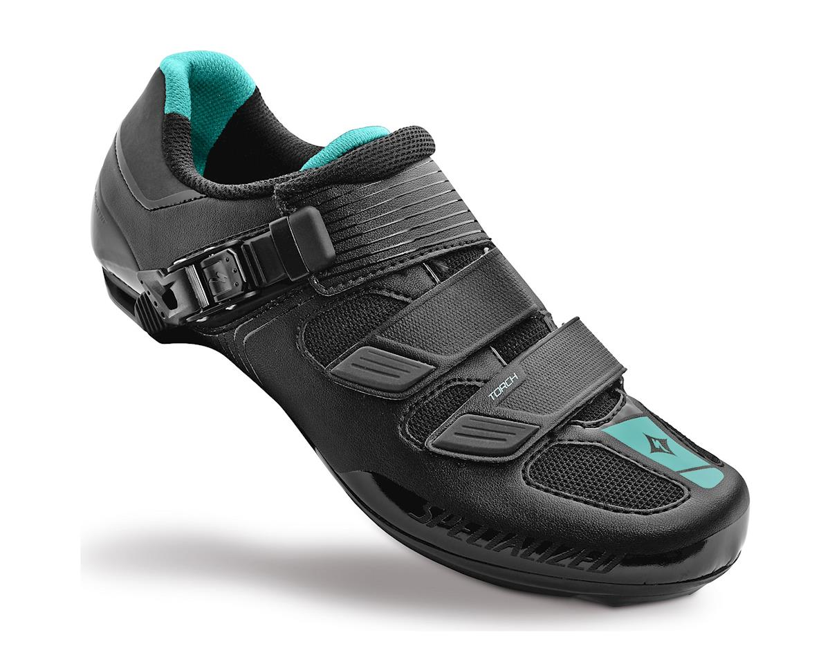 Specialized Torch Women's Road Shoe (Black/Emerald Green Reflective)