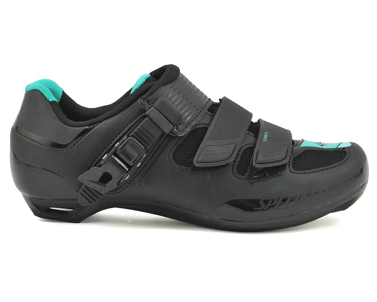 Specialized 2016 Torch Women's Road Shoe (Black/Emerald Green Reflective)