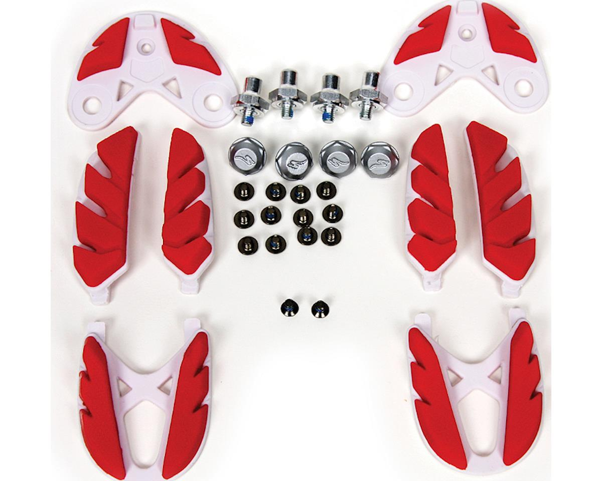 Specialized Replacement S-Works MTB Shoe Lug Kit and Spikes (Red/White) (SHOE SIZE: 38-39.5 regular)