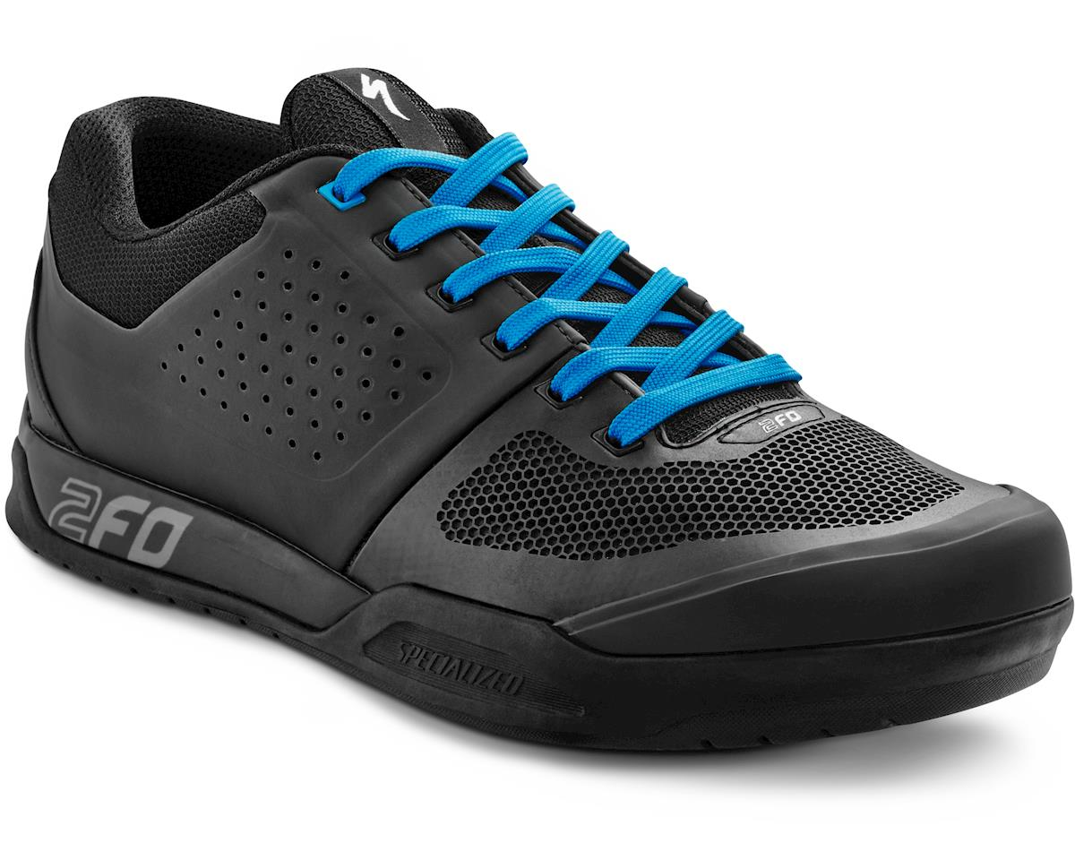 Specialized 2016 2FO Flat MTB Shoe (Black/Neon Blue) (38)