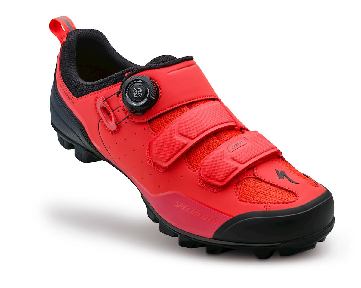Specialized Comp MTB Mountain Bike Shoes (Rocket Red Dipped) (38 Regular)