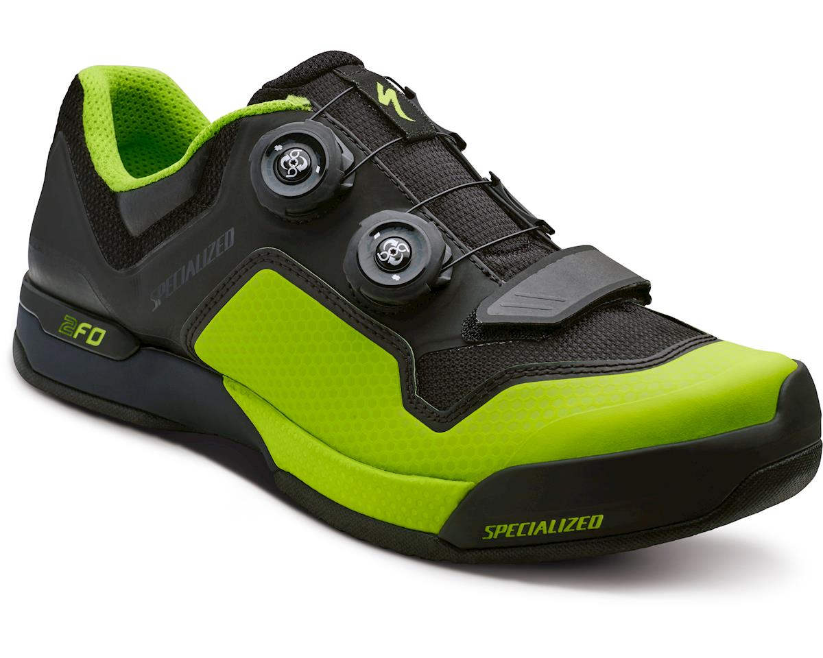 Specialized 2FO ClipLite Mountain Bike Shoes (Black/Monster Green) (38 Regular)
