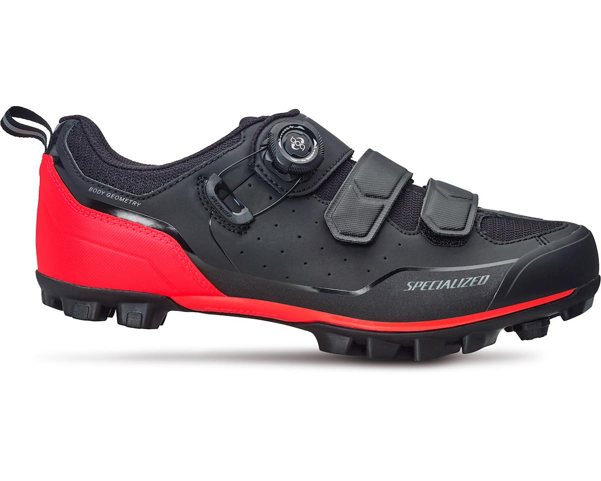 Specialized Comp Mountain Bike Shoes (Black/Rocket Red) (45.5 Regular)