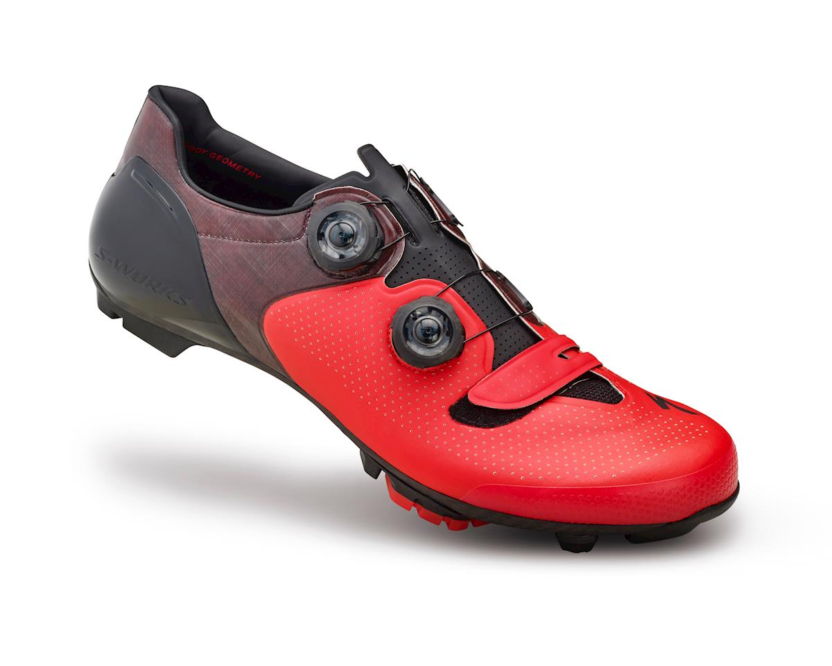 Specialized S-Works 6 XC Mountain Bike Shoes (Red/Black) (38 Regular) (43)
