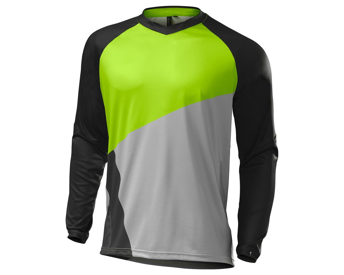 Specialized 2016 Demo Pro Long Sleeve Jersey (Monster Green/Grey)