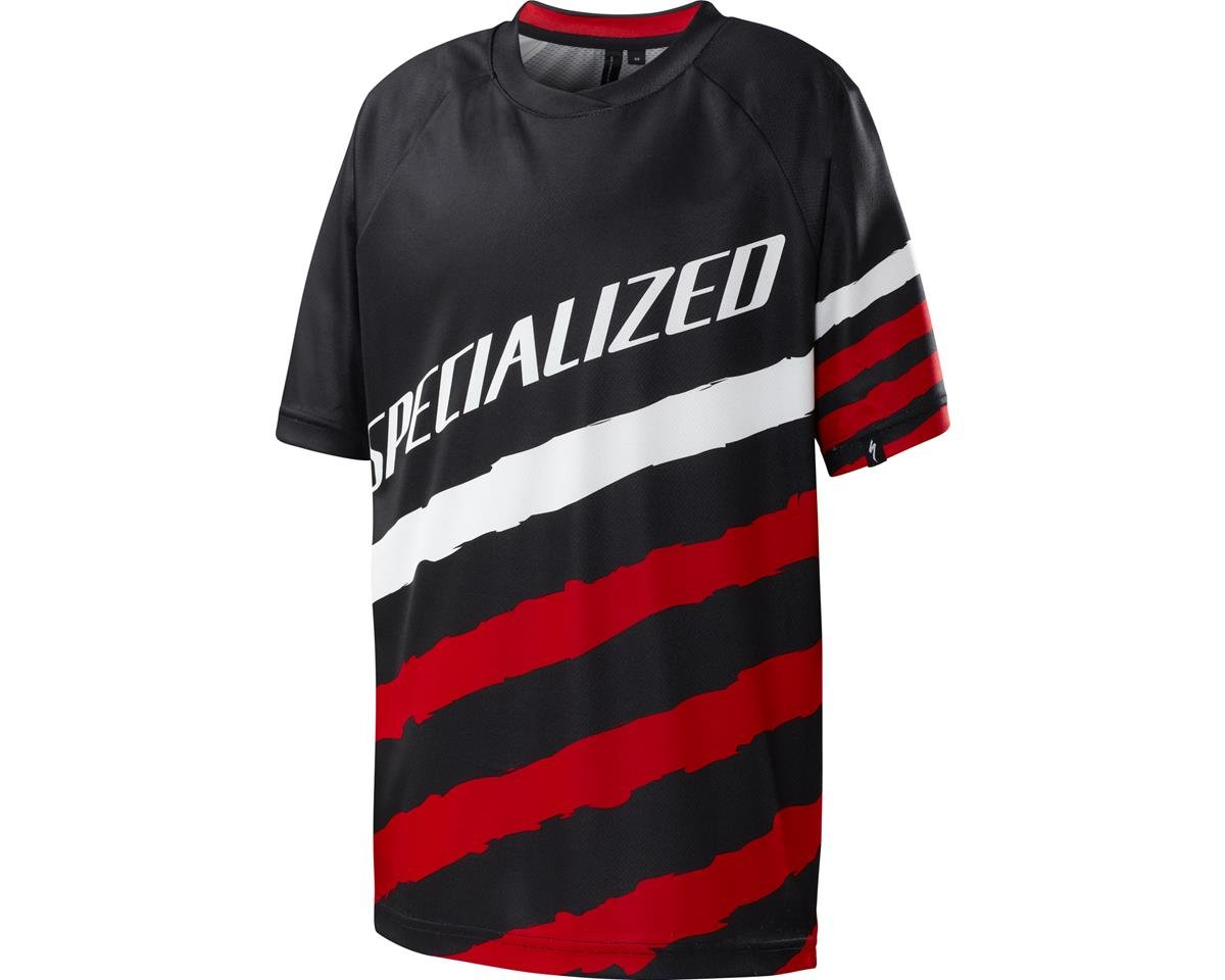 Specialized Enduro Grom Youth 3/4 Jersey (Black/Red)
