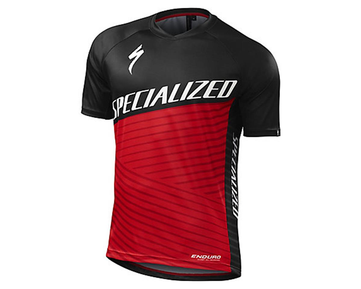 Specialized Enduro Comp Short Sleeve Jersey (Red) (M)