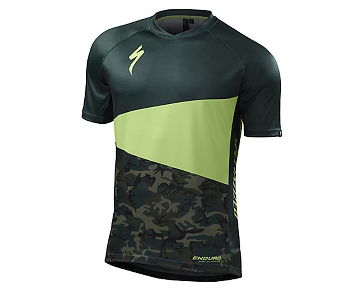 Specialized Enduro Comp Short Sleeve Jersey (Monster Green/Camo)