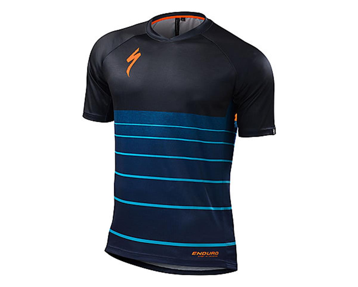 Specialized Enduro Comp Short Sleeve Jersey (Cobra Blue Collage) (M)