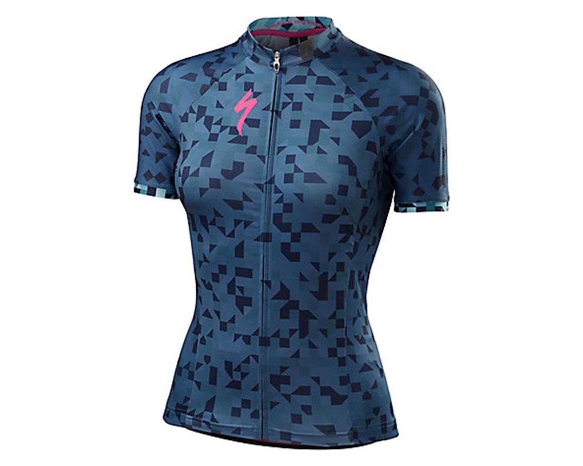 Specialized SL Pro Women's Jersey (Cobra Blue/Geo Fade) (M)