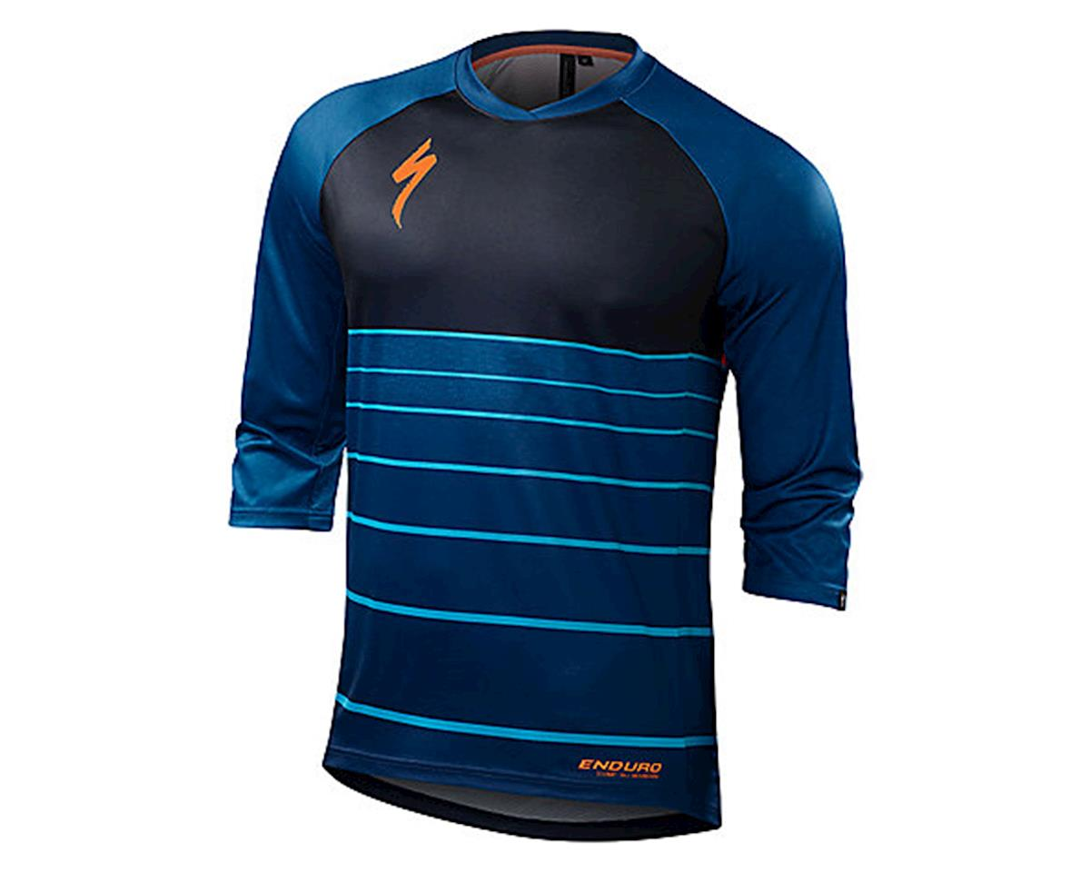 Specialized Enduro Comp 3/4 Sleeve Jersey (Cobra Blue Collage)