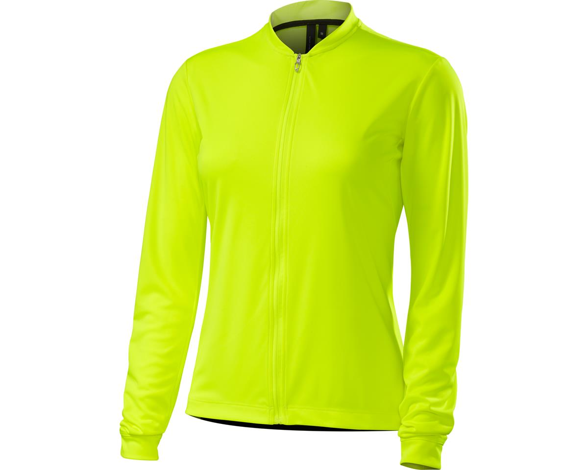Specialized Women's RBX Sport Long Sleeve Jersey (Neon Yellow) (X-Small)